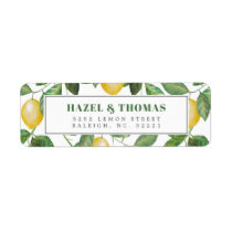 Lemon Season Wedding Celebration | Return Address Label