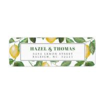 Lemon Season Wedding Celebration | Return Address Label