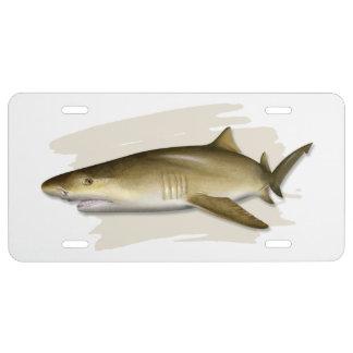 Lemon Shark License Plate