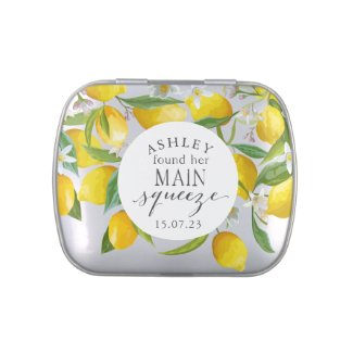 Lemon, she found her main squeeze bridal favor candy tin