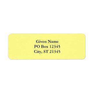 Lemon Sherbet Custom Return Address Labels