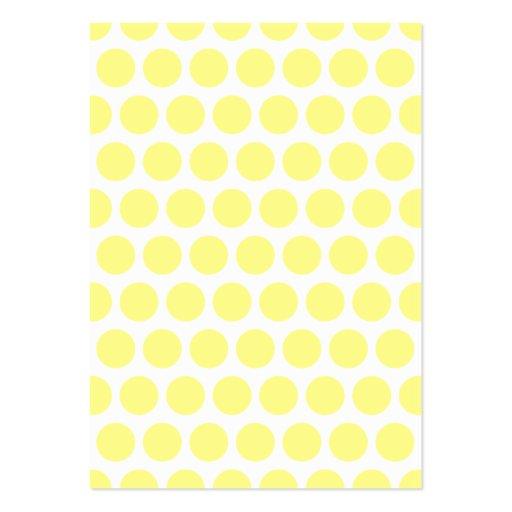 Lemon Sherbet Polka Dots Business Cards