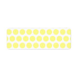 Lemon Sherbet Polka Dots Custom Return Address Label
