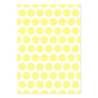 Lemon Sherbet Polka Dots Large Business Cards (Pack Of 100)