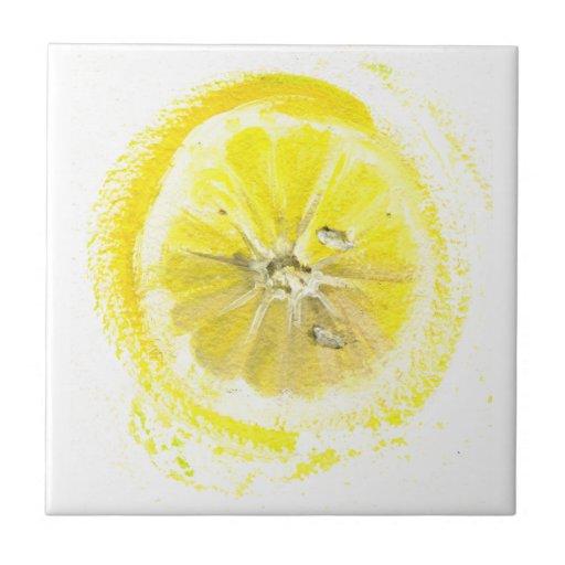 Lemon sketch ceramic tiles