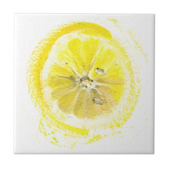 Lemon sketch tile