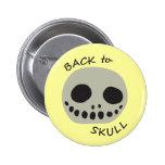 lemon skull back to school pin