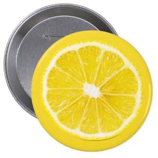 lemon slice 2 inch round button