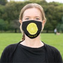 Lemon Slice Adult Cloth Face Mask