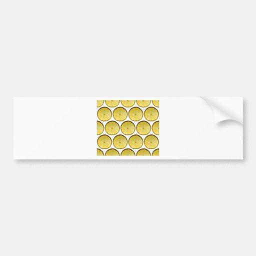 Lemon slice bumper sticker
