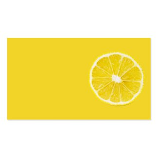 lemon slice Double-Sided standard business cards (Pack of 100)