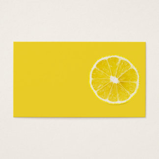 lemon slice business card