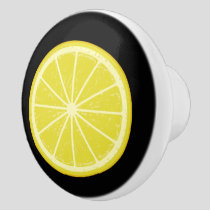 Lemon Slice Ceramic Knob