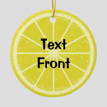 Lemon Slice Ceramic Ornament