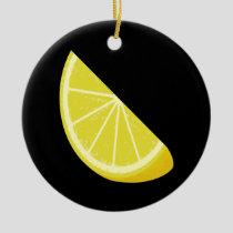 Lemon Slice Ceramic Ornament