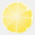 Lemon Slice Classic Round Sticker at Zazzle