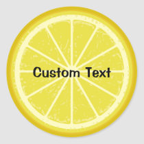 Lemon Slice Classic Round Sticker