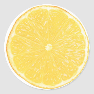 Lemon slice classic round sticker