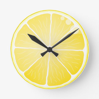 Lemon Slice Round Clocks