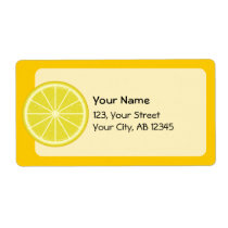 Lemon Slice Label