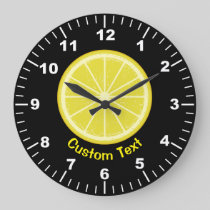 Lemon Slice Large Clock