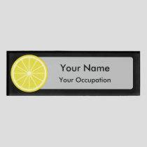 Lemon Slice Name Tag