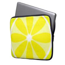 Lemon Slice Neoprene Electronics Bag