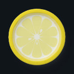 "Lemon Slice Paper Plate<br><div class=""desc"">Paper plates designed to look like the inside of a lemon.</div>"