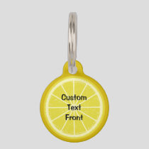 Lemon Slice Pet ID Tag