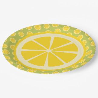 Lemon Slice Picnic Paper Plate
