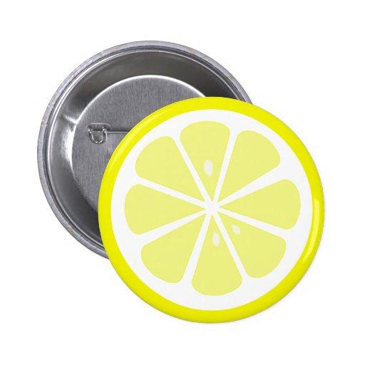 lemon slice pinback button zazzle