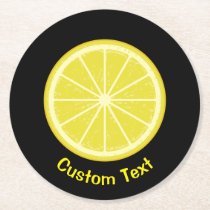 Lemon Slice Round Paper Coaster