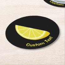 Lemon Slice Round Paper Coaster