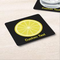Lemon Slice Square Paper Coaster