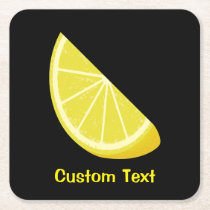 Lemon Slice Square Paper Coaster