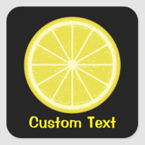 Lemon Slice Square Sticker