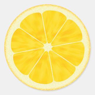 Lemon Slice Round Sticker