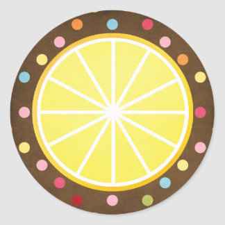 Lemon slice round stickers