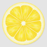 Lemon Slice Stickers Round Sticker
