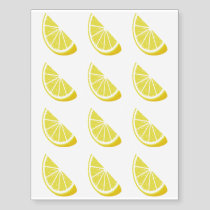 Lemon Slice Temporary Tattoos
