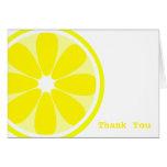 Lemon Slice Thank You Card