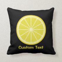Lemon Slice Throw Pillow