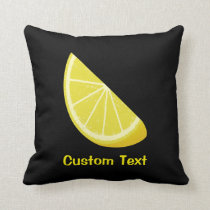 Lemon Slice Throw Pillow