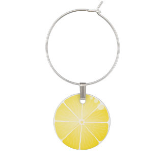 Lemon Slice Wine Glass Charm