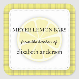 Lemon Slice Yellow Plaid From the Kitchen of Label