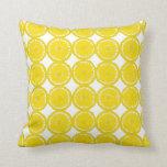 Lemon Slices - 2 Throw Pillows