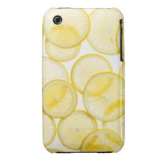 Lemon slices arranged in pattern backlit iPhone 3 case
