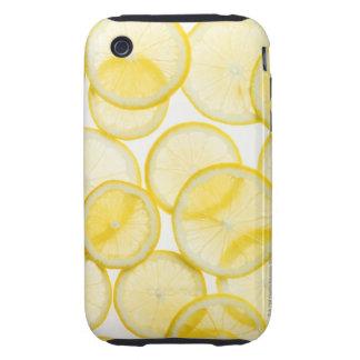 Lemon slices arranged in pattern backlit tough iPhone 3 cover