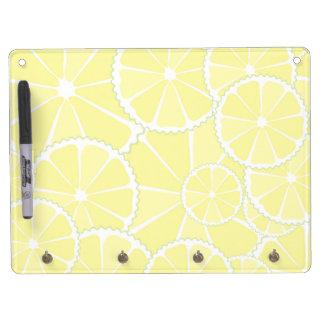 Lemon slices dry erase board with keychain holder