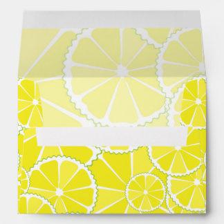 Lemon slices envelope